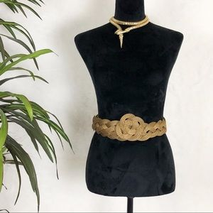 SARAH CAVENDER  gold mesh twisted belt